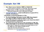 example xen vm