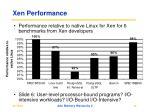 xen performance