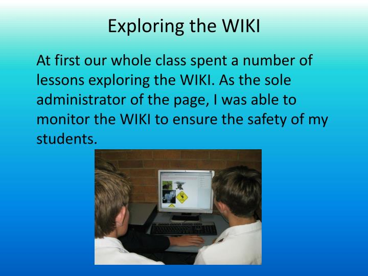 exploring the wiki n.