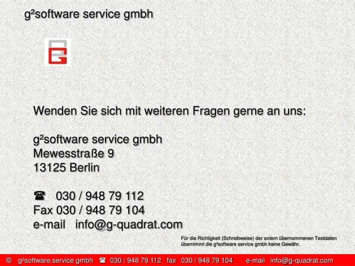 g²software service gmbh