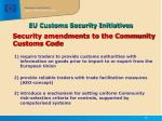 eu customs security initiatives