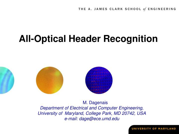 all optical header recognition