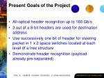 present goals of the project