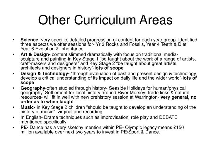 Other Curriculum Areas