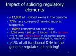 impact of splicing regulatory elements