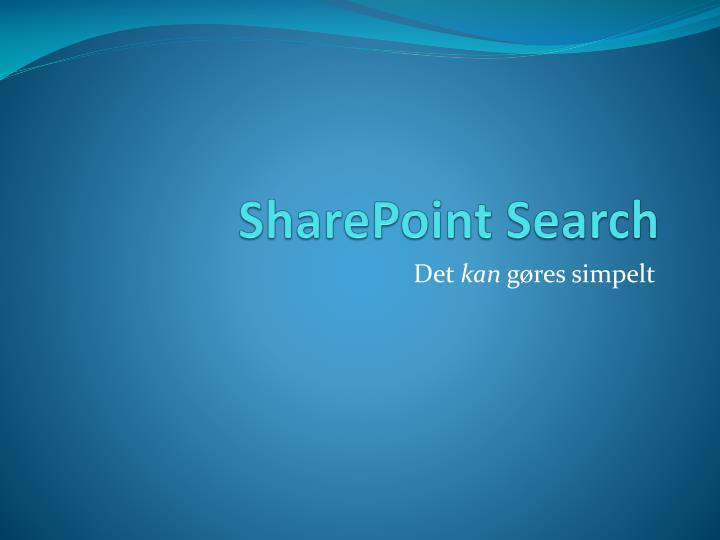 sharepoint search n.