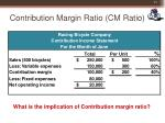 contribution margin ratio cm ratio