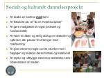 socialt og kulturelt dannelsesprojekt
