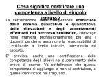 cosa significa certificare una competenza a livello di singolo istituto