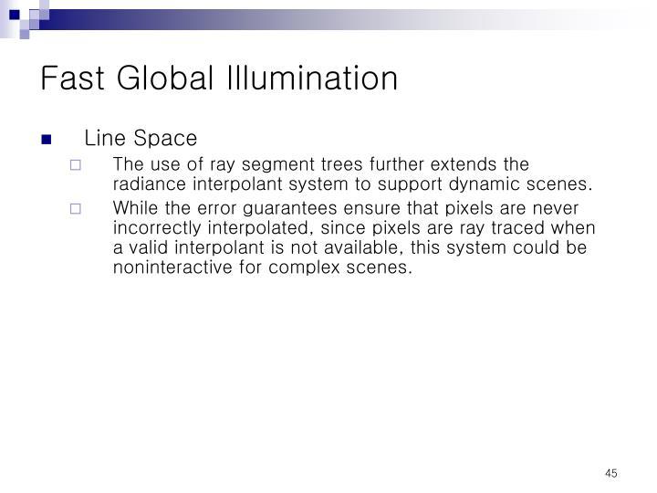 Fast Global Illumination