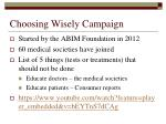 choosing wisely campaign