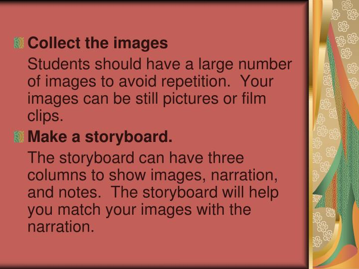 Collect the images