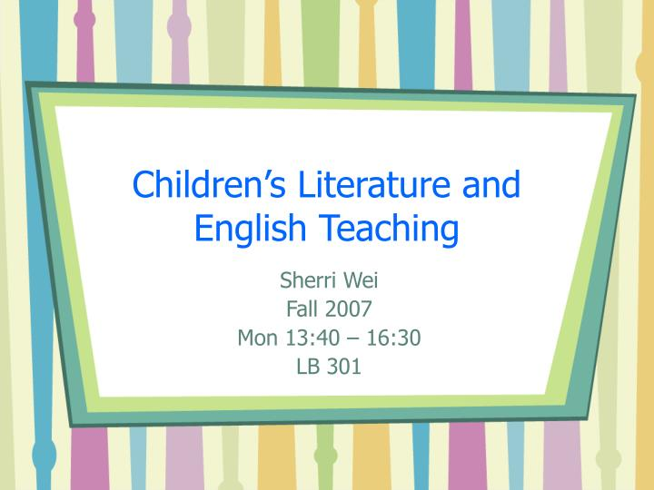 thesis on teaching english language through literature This paper summarizes the literature on second language acquisition (focusing on learning to speak in a second language) and on adults learning to read in english and gives implications for instructional practice.