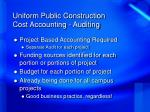 uniform public construction cost accounting auditing