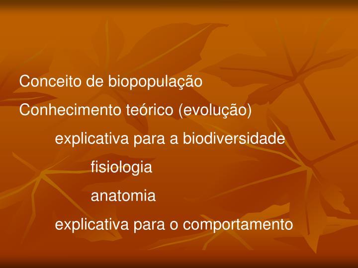 Conceito de biopopulação