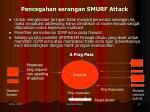 pencegahan serangan smurf attack