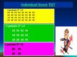 individual score tgt