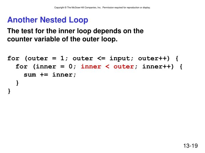 Another Nested Loop