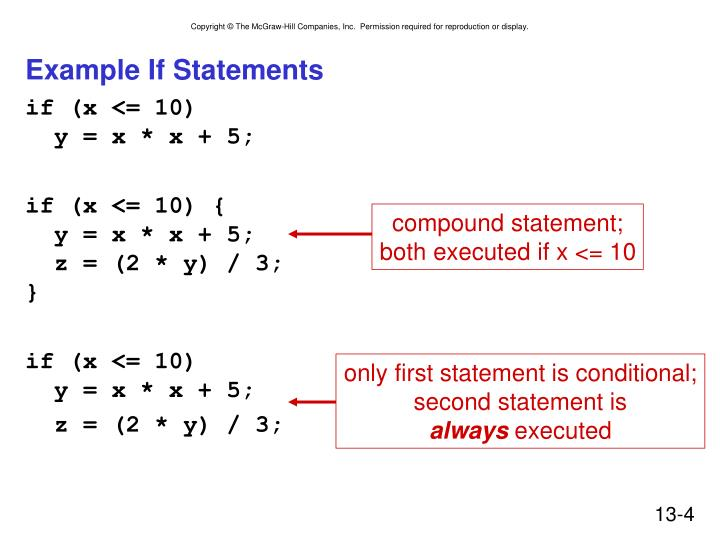 Example If Statements