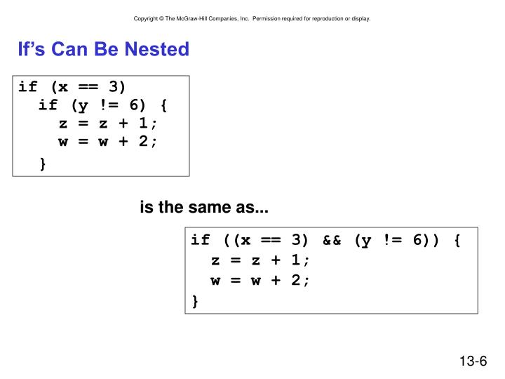 If's Can Be Nested