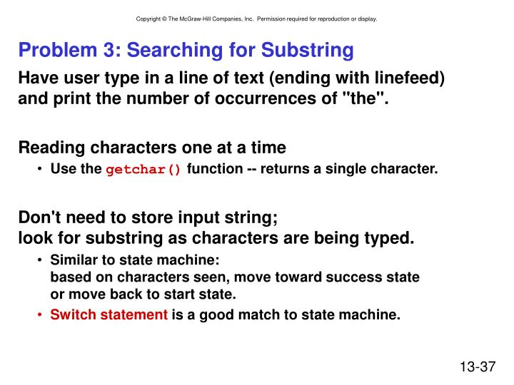 Problem 3: Searching for Substring