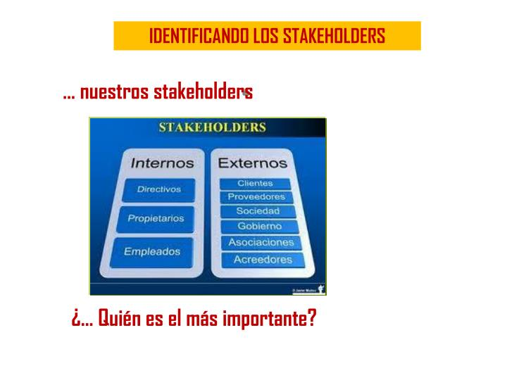 IDENTIFICANDO LOS STAKEHOLDERS