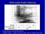 multi scale audio indexing