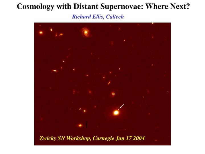 cosmology with distant supernovae where next n.