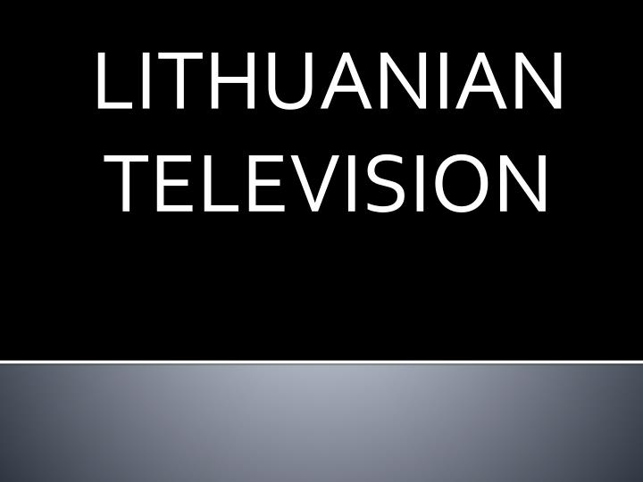 Lithuanian television