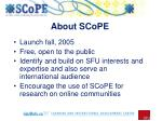about scope