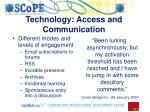 technology access and communication