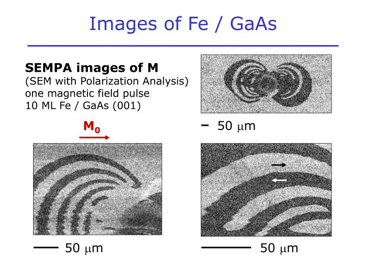 Images of Fe / GaAs