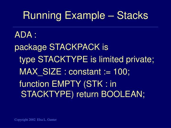 Running example stacks