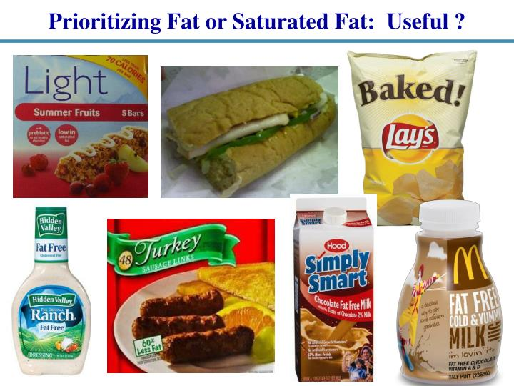 Prioritizing Fat or Saturated Fat:  Useful ?