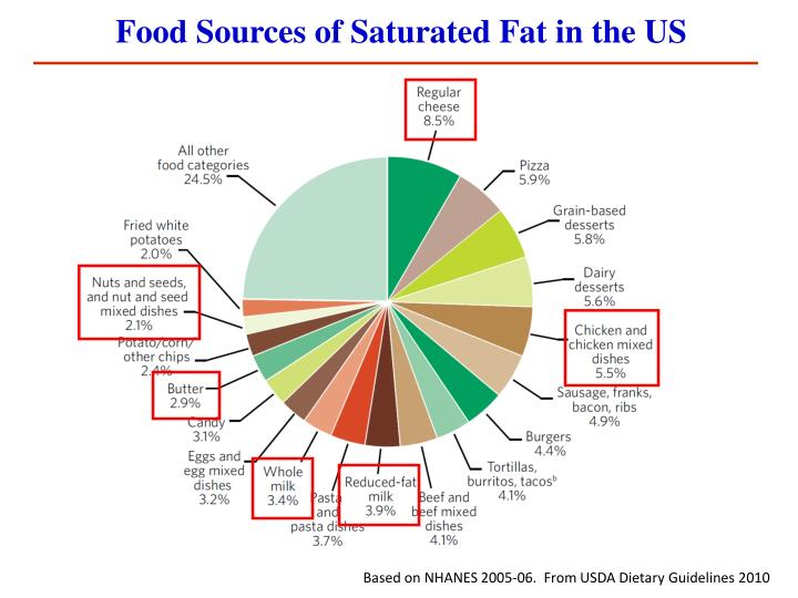 Food Sources of Saturated Fat in the US
