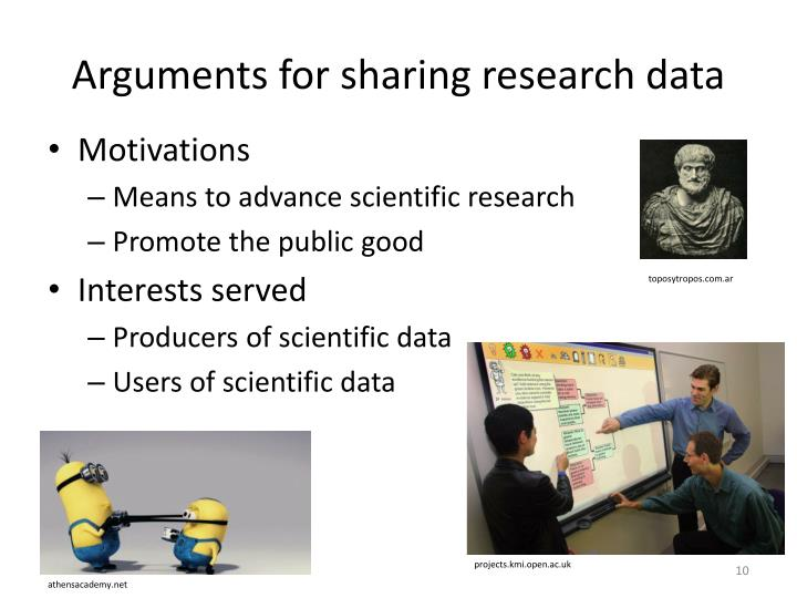 Arguments for sharing research data