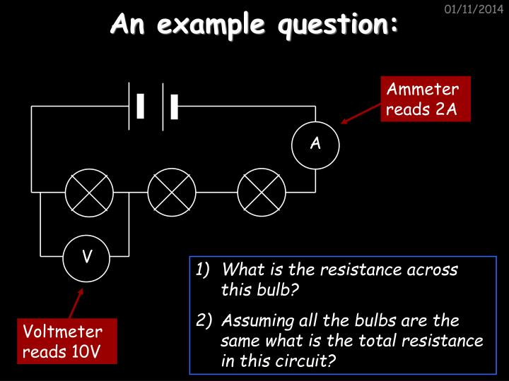 An example question: