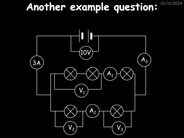Another example question: