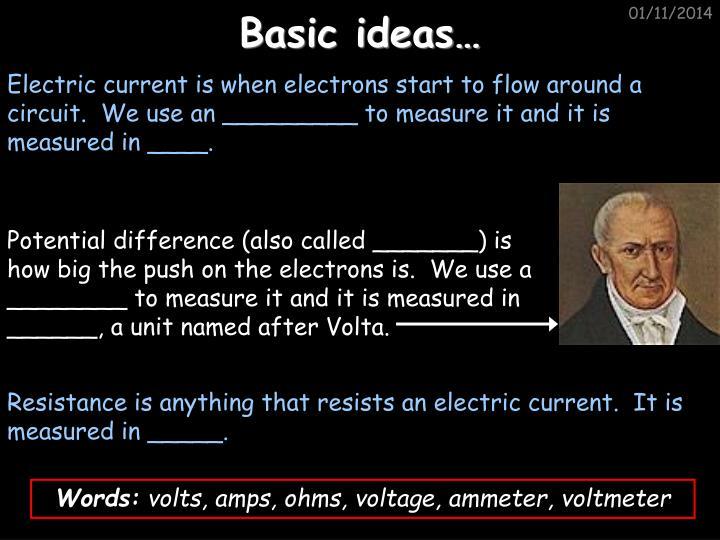 Basic ideas…