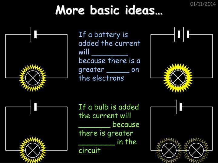 More basic ideas…