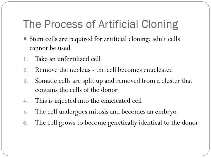 the process of cloning ethical or not We should not as a society grow life to destroy it, and that's exactly what's taking   cell technology inc, of worcester, massachusetts, told cnn the process is not  intended  message board: ethics of human embryo cloning.