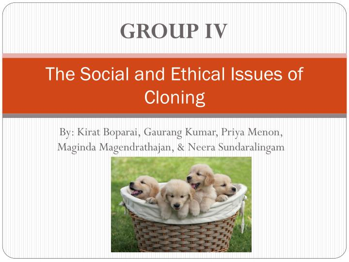 the social and ethical issues of cloning n.