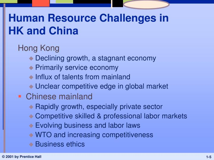 Human Resource Challenges in HK and China