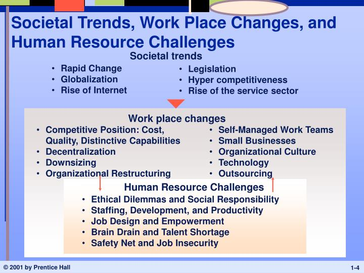 Societal Trends, Work Place Changes, and Human Resource Challenges