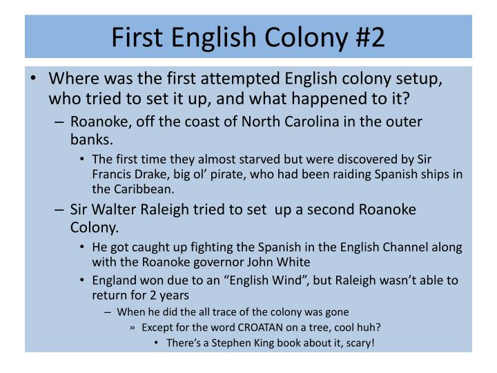 First English Colony #2