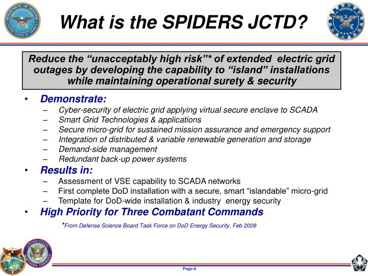 What is the SPIDERS JCTD?