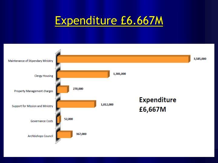 Expenditure £6.667M