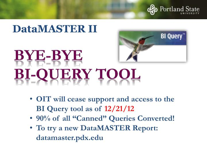 Datamaster ii