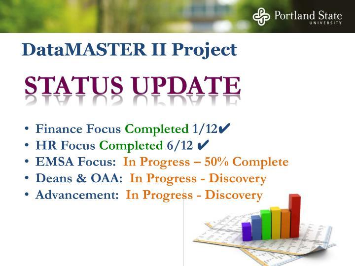 Datamaster ii project