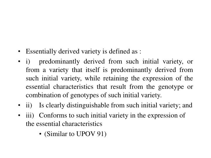 Essentially derived variety is defined as :